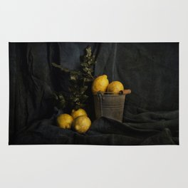 Cassic still life with lemons Rug
