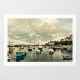 Brixham harbor  Art Print