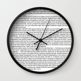 """Infinite Jest"" Computer Generated Fanfic Text Wall Clock"
