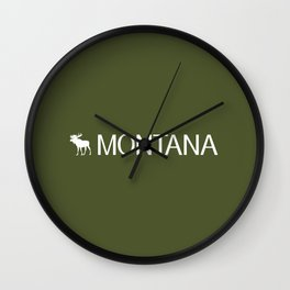 Montana: Moose (Mountain Green) Wall Clock