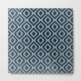 Mid Century Modern Diamond Ogee Pattern 162 Metal Print