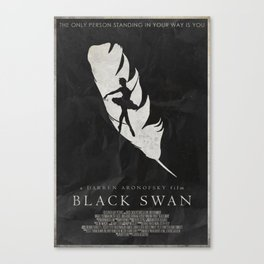 Perfection - Black Swan Poster Canvas Print