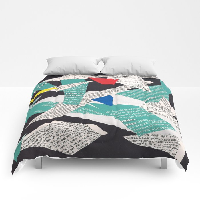 Collage abstract multicolor 3334 Comforters