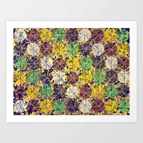 Pattern circles joined Art Print