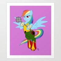 Rainbow Hawk Dash Art Print
