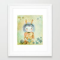 bunny Framed Art Prints featuring Bunny by munieca