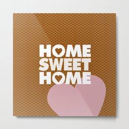 Home Sweet Home Print  by LapisLazuliCreative Metal Print