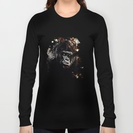 gorilla monkey face expression wsfn Long Sleeve T-shirt