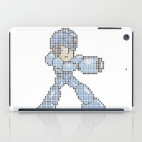 megaman iPad Cases featuring Megaman Made of Cubes by BitxBitxBit