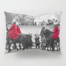 Household Calvary Trot by Buckingham Palace during Changing of the Guard London England Pillow Sham