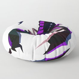 Scorpion geometric Animal  Zodiac sign Black and purple Floor Pillow