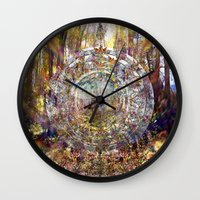 medicine Wall Clocks featuring Deer Medicine by alleira photography