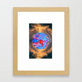 Red Sea Jelly Framed Art Print