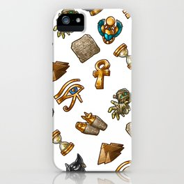 Nefertiti's Quest : Patterns iPhone Case