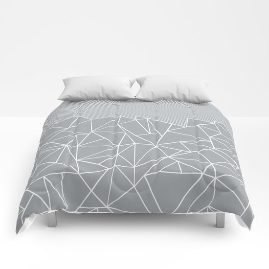 Ab Linear Grey Comforters
