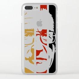 Noam Chomsky Retro Homage Clear iPhone Case