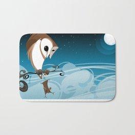 Barn Owl and Mouse Bath Mat