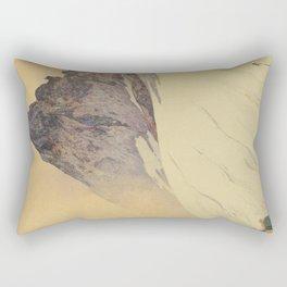 Yariga Mountain Hiroshi Yoshida Japanese Woodblock Print Rectangular Pillow