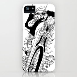 Biker on The Road iPhone Case