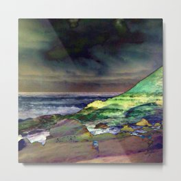 Hawaii Sea And Sky Abstract Metal Print