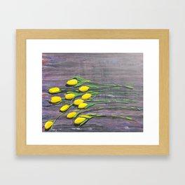 """Yellow Tulips"" Framed Art Print"