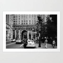 Brooklyn bridge traffic sign | NewYork city, USA, America, Travel art print Art Print