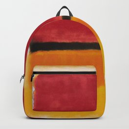 1949 Untitled (Violet, Black, Orange, Yellow on White and Red) by Mark Rothko Backpack
