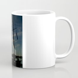 sailboat on the sunrise Coffee Mug