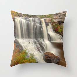 Blackwater Autumn Falls Throw Pillow