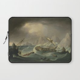 Shipwreck Off A Rocky Coast Laptop Sleeve