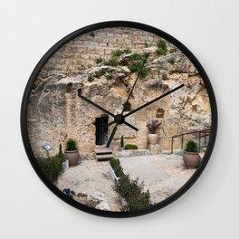 jesus christ tomb israel Wall Clock