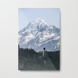 Early Hike to Mt Cook - portrait Metal Print
