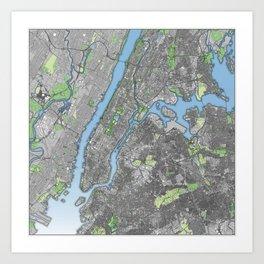 New York City in Color Art Print
