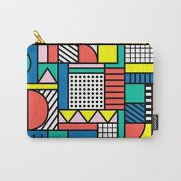 Memphis Color Block Carry-All Pouch