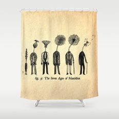 The Seven Ages of Mandelion Shower Curtain
