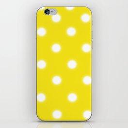 Yellow & White Polka Dot iPhone Skin