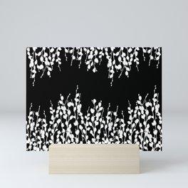 Pussywillow Design | Black • White Mini Art Print
