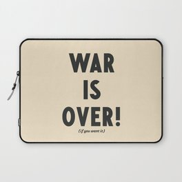 War is over, if you want it, peace message, vintage illustration, anti-war, Happy Xmas, song quote Laptop Sleeve