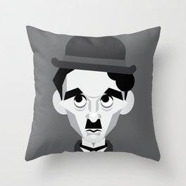 Charlie Chaplin Vector Caricature Throw Pillow