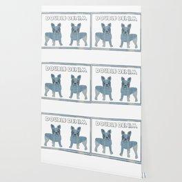 Double Denim French Bulldogs Wallpaper