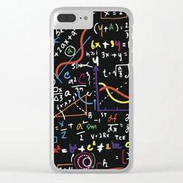 mathematics Clear iPhone Case