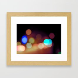 Dots & Colors Framed Art Print