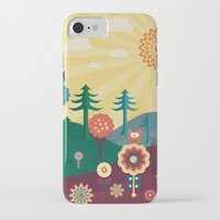 sunshine iPhone & iPod Cases featuring Sunshine by Kakel