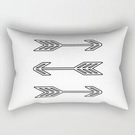 Triple Arrows Rectangular Pillow