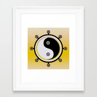 yin yang Framed Art Prints featuring Yin yang by Nir P