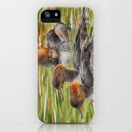 Common Merganser Trio iPhone Case