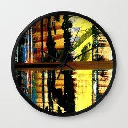 Easel Abstract 7 Wall Clock