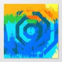 Octagon Twin | Minimalist | Abstract | Modern | Shapes | Geometrix Canvas Print