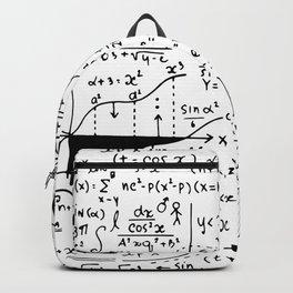 Hand Written Math Equation Backpack