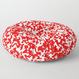 Small Spots - White and Red Floor Pillow